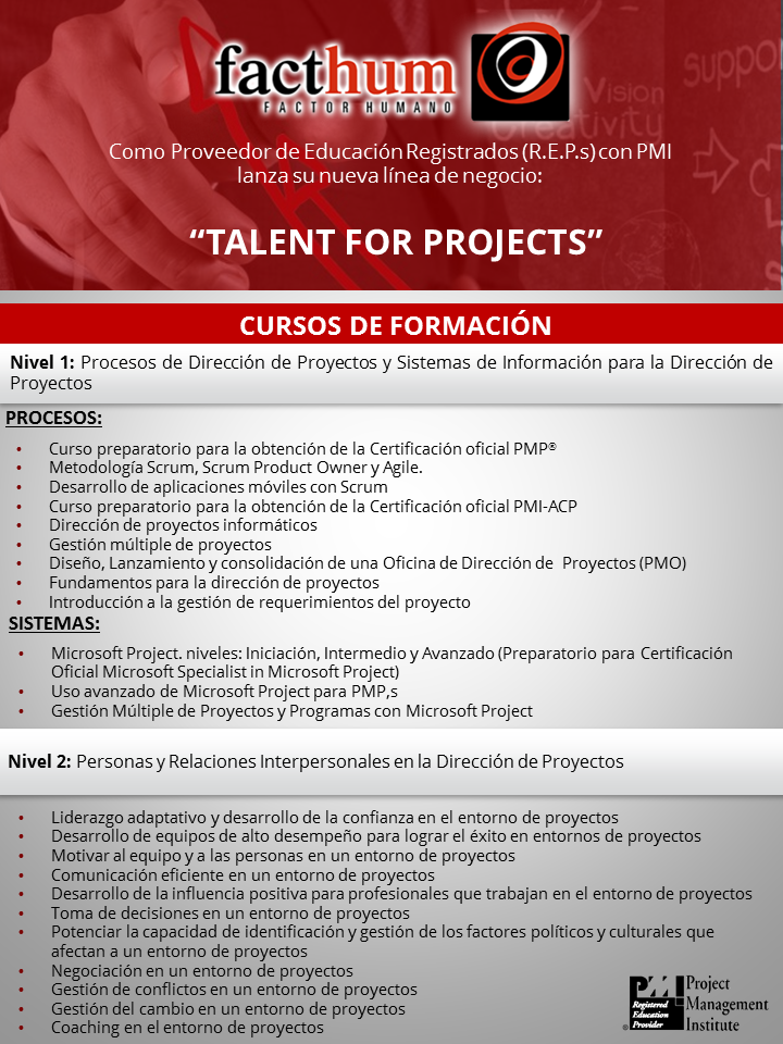 Talent for projects Formaciones